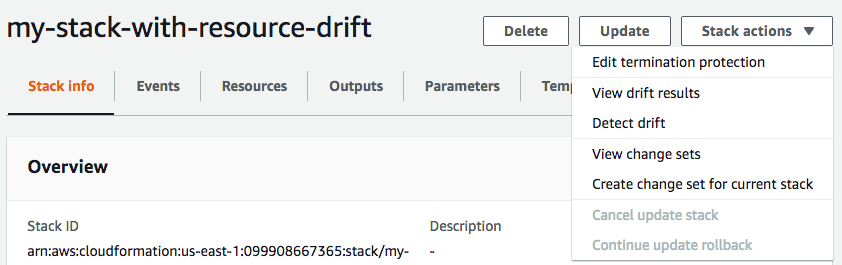 Detect Drift on an Entire CloudFormation Stack - AWS CloudFormation