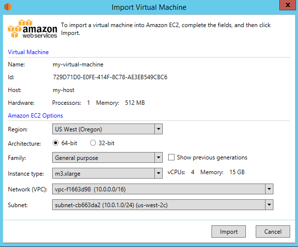 Importing Your Virtual Machine Using AWS Systems Manager for
