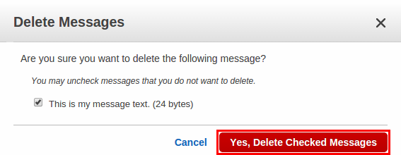 how to delete messages on amazon