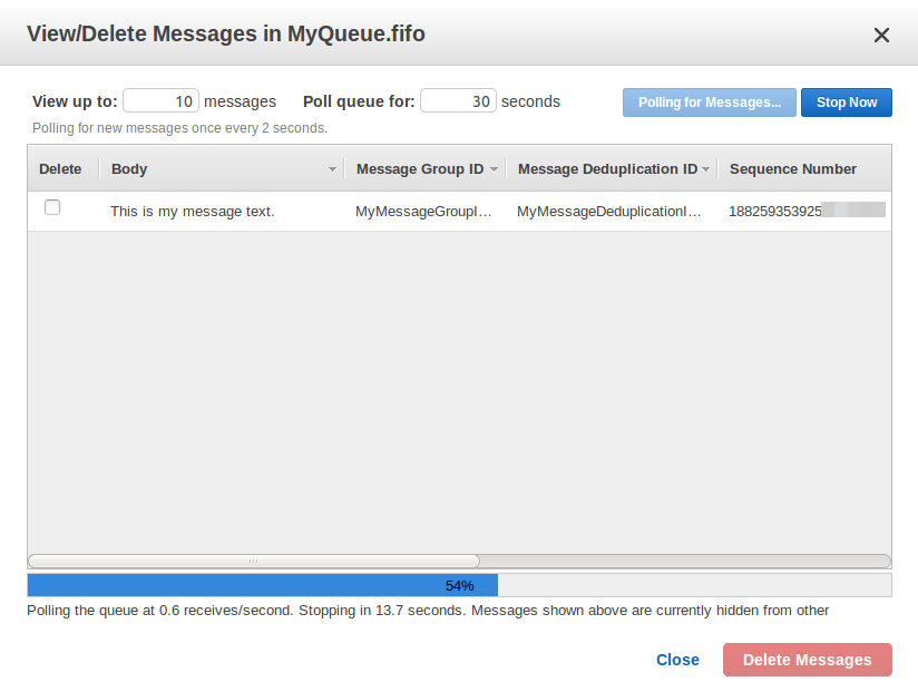 Tutorial: Receiving and Deleting a Message from an Amazon SQS Queue