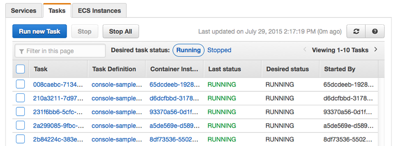 starting a task at container instance launch time amazon elastic