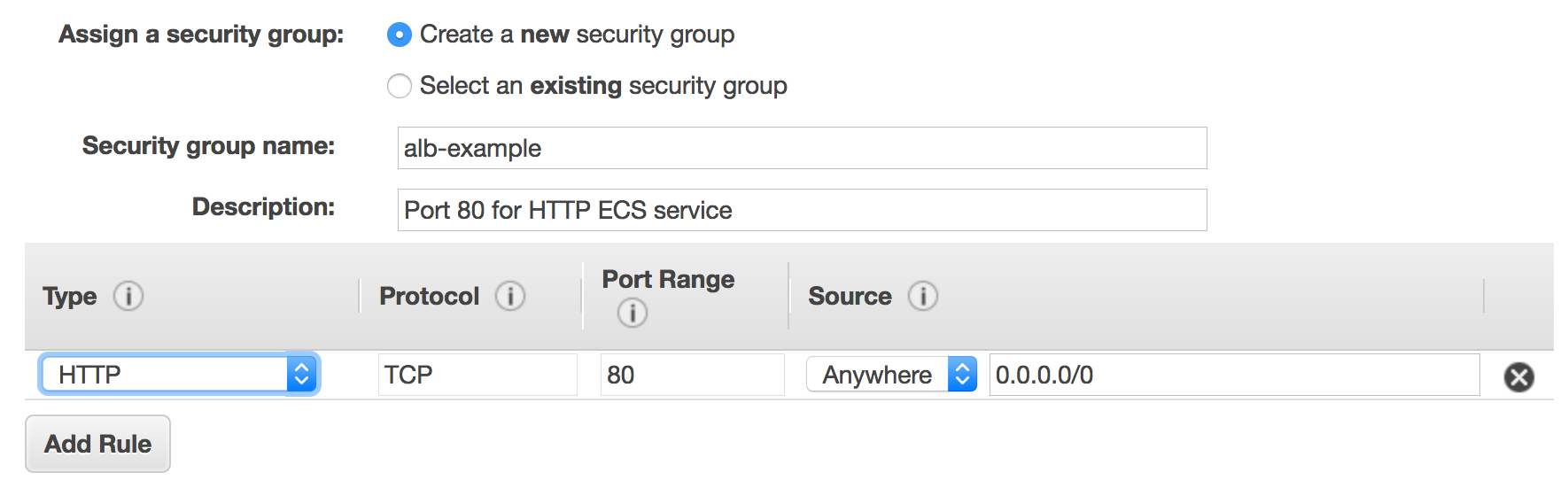 Creating an application load balancer amazon elastic container select security groups xflitez Images