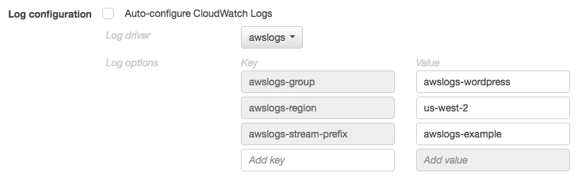 Using the awslogs Log Driver - Amazon Elastic Container Service