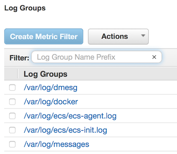 Using CloudWatch Logs with Container Instances - Amazon