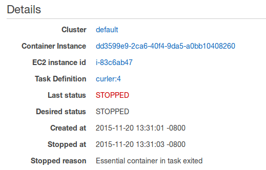 Checking Stopped Tasks for Errors - Amazon Elastic Container