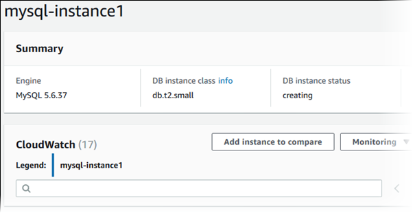 Creating a DB Instance Running the MySQL Database Engine
