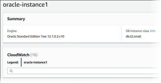 Creating an Oracle DB Instance and Connecting to a Database on an