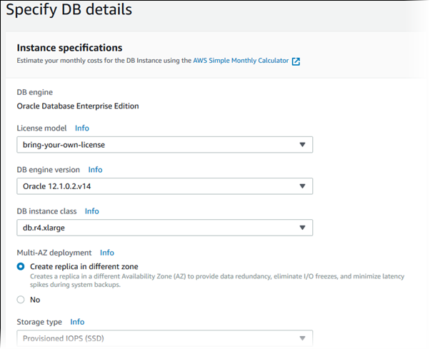Creating a DB Instance Running the Oracle Database Engine - Amazon