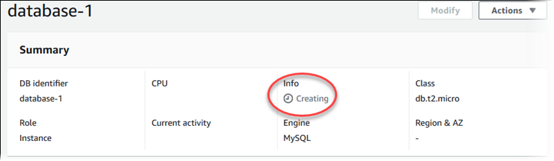 Creating a DB Instance Running the MySQL Database Engine - Amazon