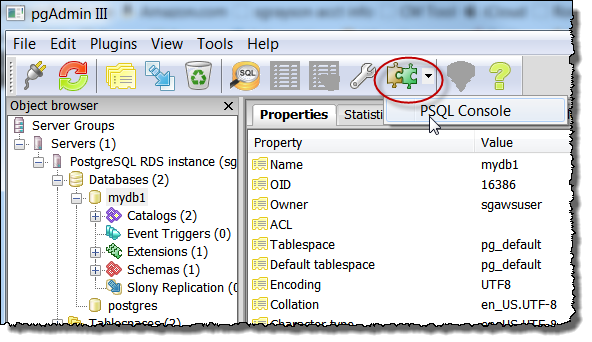 Creating a PostgreSQL DB Instance and Connecting to a Database on a