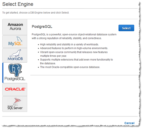 Creating a PostgreSQL DB Instance and Connecting to a Database on ...