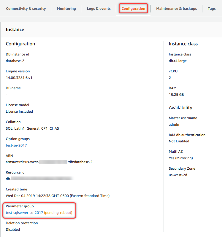 Working with DB Parameter Groups - Amazon Relational