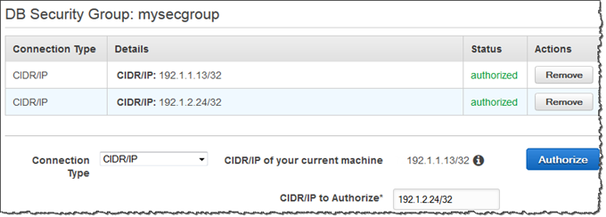 Working with DB Security Groups - Amazon Relational Database Service