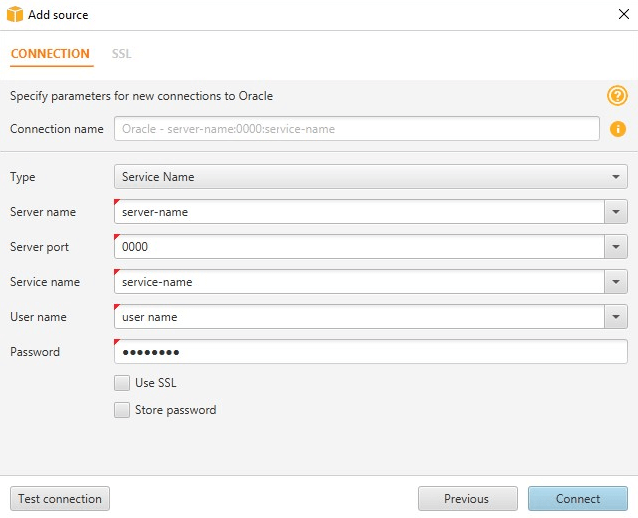 an Oracle Data Warehouse Source Database - AWS Schema Conversion Tool
