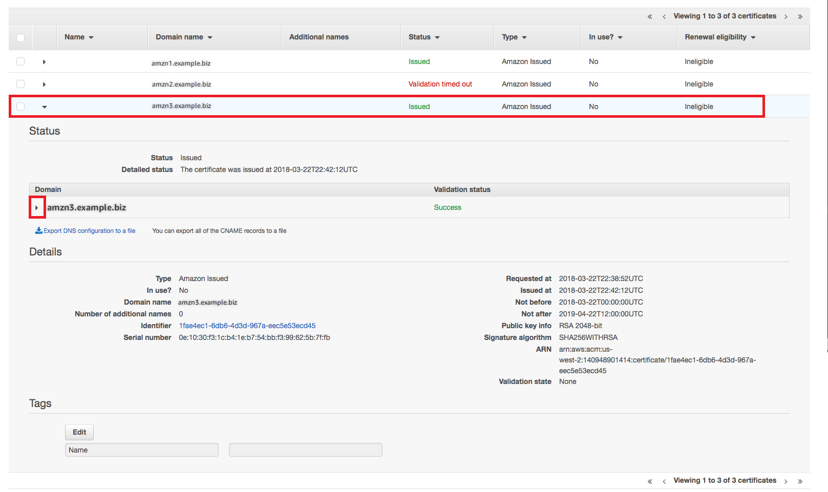 Troubleshoot Managed Certificate Renewal Problems - AWS Certificate