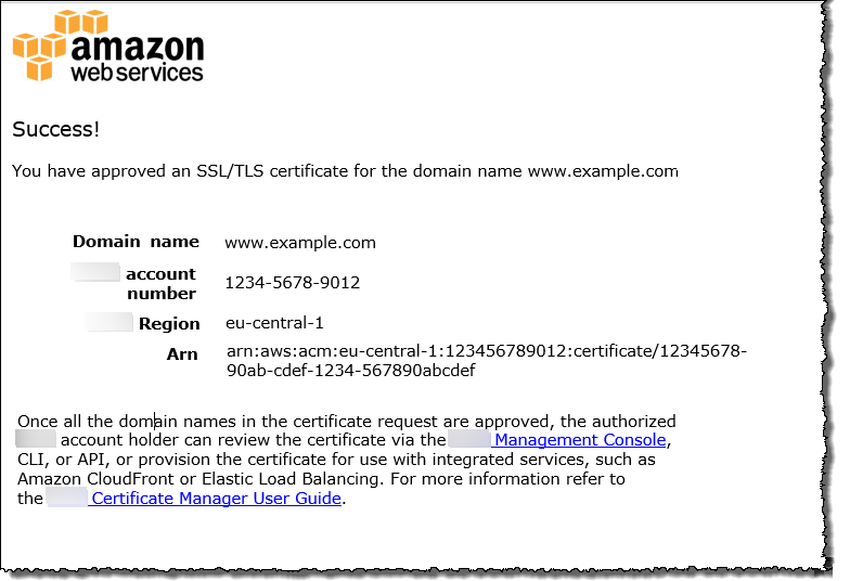 Use Email To Validate Domain Ownership Aws Certificate Manager