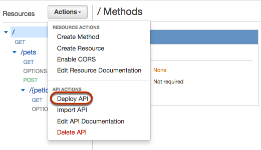Create And Test An Api From The Example In The Api Gateway Console