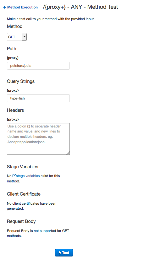 TUTORIAL: Build an API with HTTP Proxy Integration - Amazon