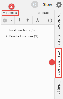 Working with AWS Lambda Functions in the AWS Cloud9