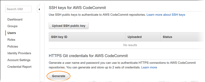 Setup for HTTPS Users Using Git Credentials - AWS CodeCommit