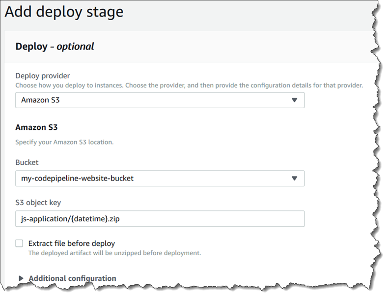 Tutorial: Create a Pipeline That Uses Amazon S3 as a