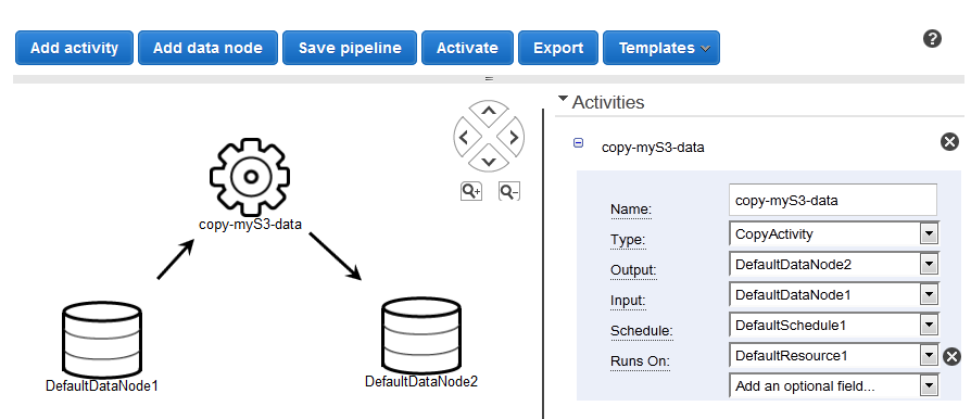 Creating Pipelines Using the Console Manually - AWS Data Pipeline