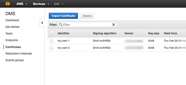 Verwenden von SSL mit AWS Database Migration Service - AWS Database ...