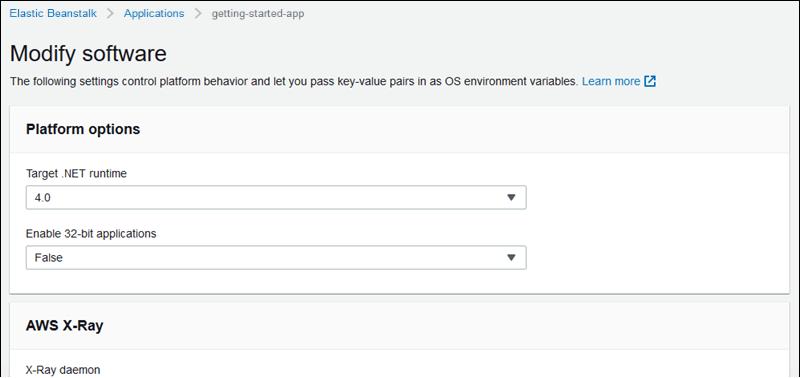 Der Assistent zum Erstellen einer neuen Umgebung - AWS Elastic Beanstalk
