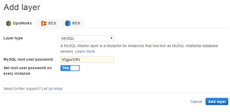 MySQL OpsWorks-Layer - AWS OpsWorks