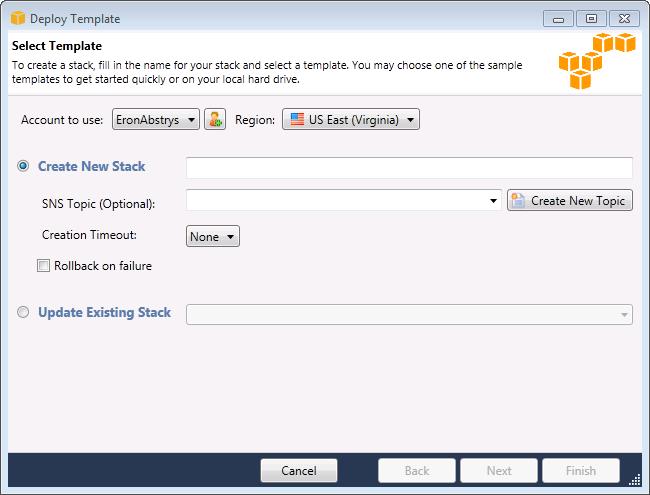 Bereitstellen einer AWS CloudFormation-Vorlage in Visual Studio ...