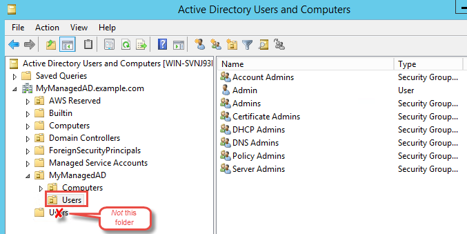 Step 2: Prepare Your AWS Managed Microsoft AD - AWS Directory Service