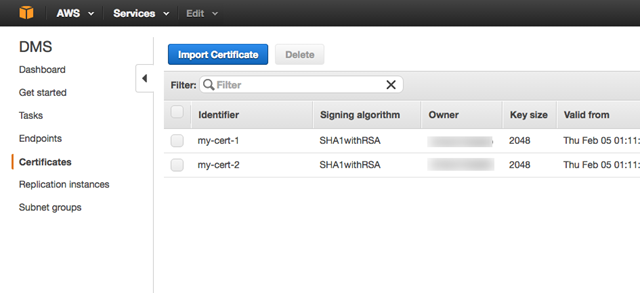 Using SSL With AWS Database Migration Service - AWS Database ...