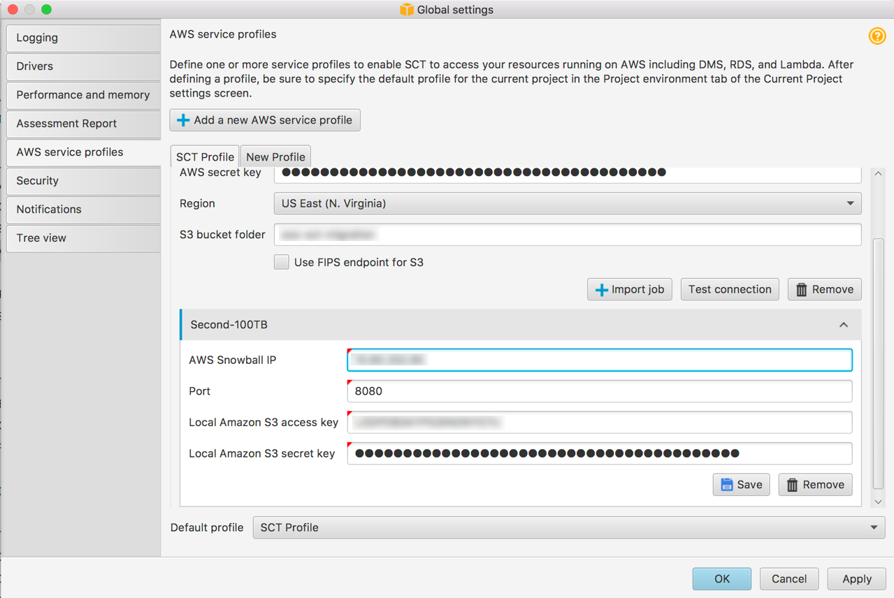 Step 7: Configure AWS SCT to Use the Snowball Edge - AWS Database