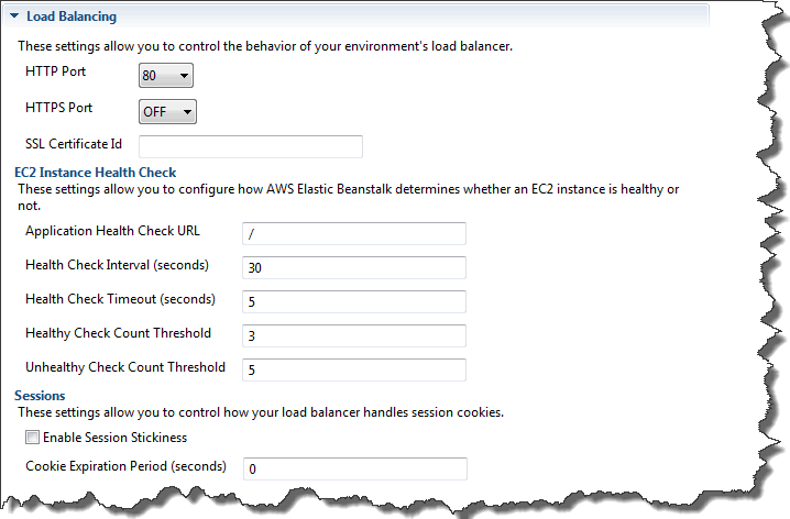 Configuring Elastic Load Balancing Using AWS Toolkit for Eclipse