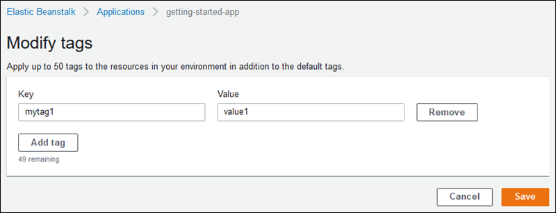 Tagging Resources in Your Elastic Beanstalk Environments - AWS