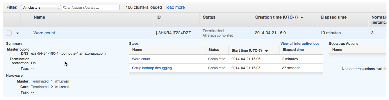 View Cluster Status and Details - Amazon EMR