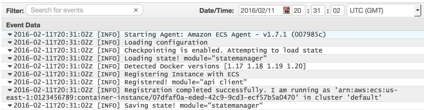 Uso de CloudWatch Logs con instancias de contenedor - Amazon ...