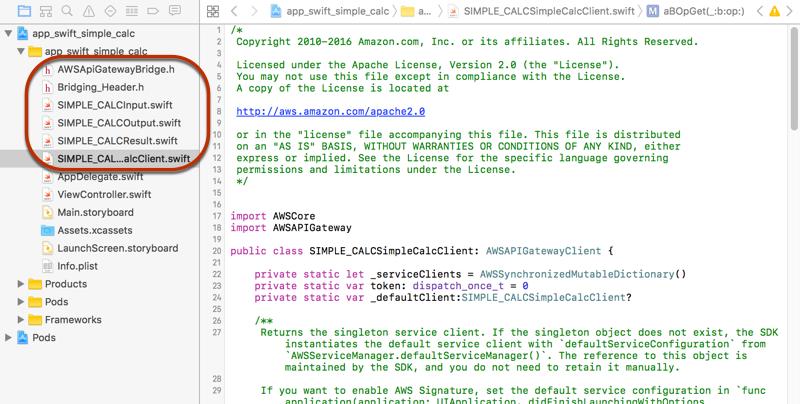 Usar un SDK de iOS generado (Swift) para llamar a la API - Amazon ...