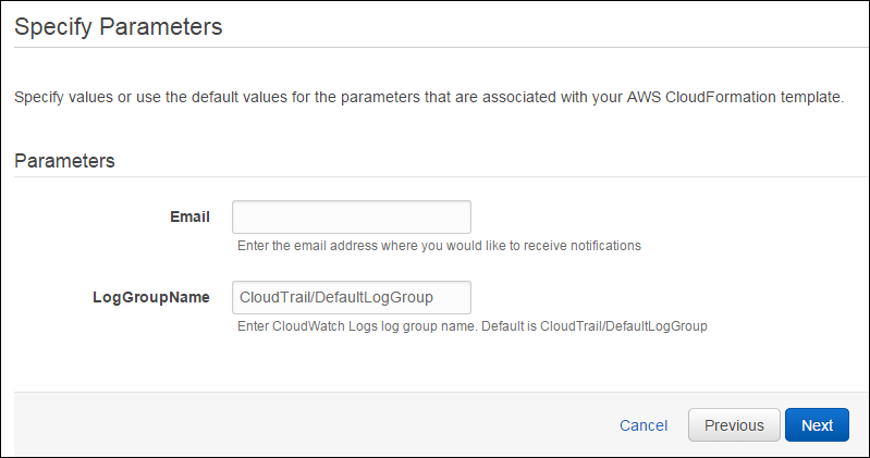 Creación de alarmas de CloudWatch con una plantilla de AWS ...