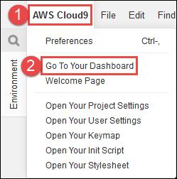 Abrir el panel de AWS Cloud9