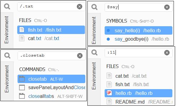 Ventana Ir en el AWS Cloud9 IDE