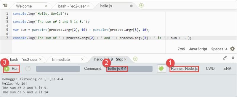 Paso 4: Instalar y configurar el AWS SDK for JavaScript in Node.js