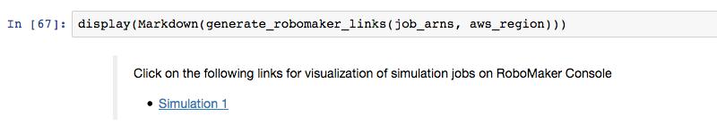 Imagen: Ver simulaciones en AWS RoboMaker