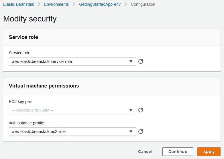Seguridad de su entorno de AWS Elastic Beanstalk - AWS ...