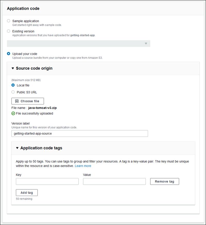 Etiquetado de versiones de la aplicación - AWS Elastic Beanstalk