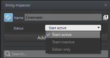 Specify whether component is active, inactive, ...
