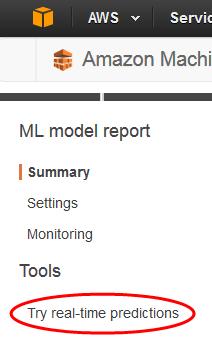 Paso 5: Uso del modelo de ML para generar predicciones - Amazon ...