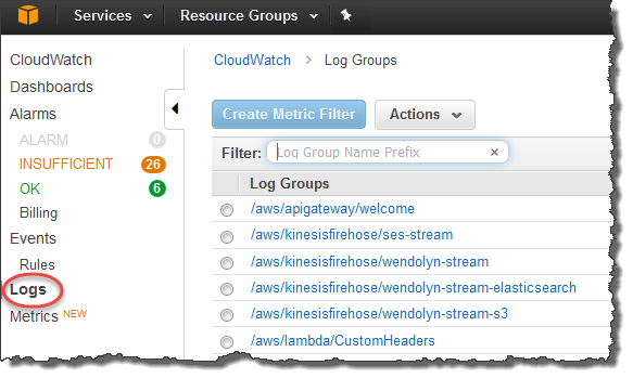 Uso de Amazon CloudWatch Logs con AWS OpsWorks Stacks - AWS ...