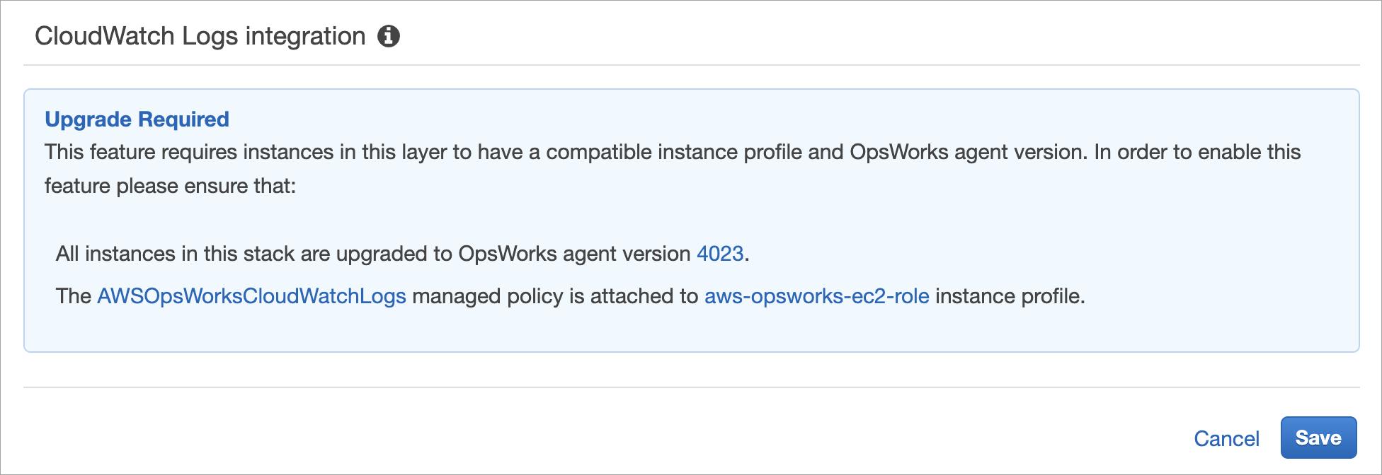 Uso de Amazon CloudWatch Logs con AWS OpsWorks Stacks - AWS ...