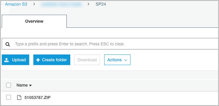 Almacenamiento de los archivos de SAP HANA